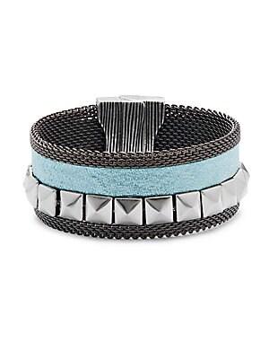 Shimmery Metallic Textured Cuff Bracelet