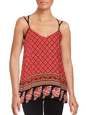 Mixed Print Strappy Top