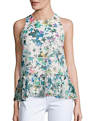 Floral Printed Ruffled Top