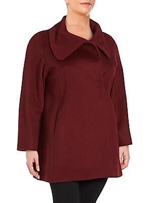 Solid Wool-Blend Jacket