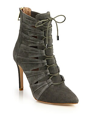 Jelka Leather Lace-Up Booties