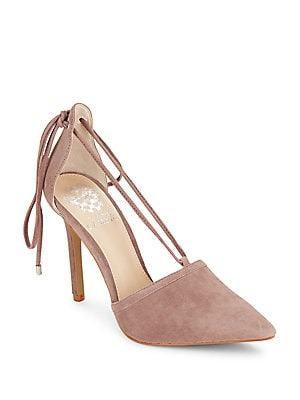 Leather Point Toe Pumps