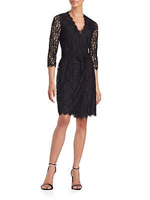 Julianna Floral Lace Wrap Dress