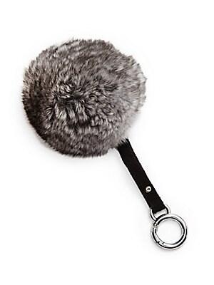 Chinchilla Fur Pom-Pom Key Ring & Bag Charm