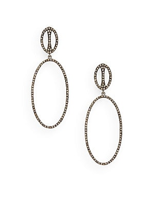Click here for Diamond Oval Drop Earrings prices