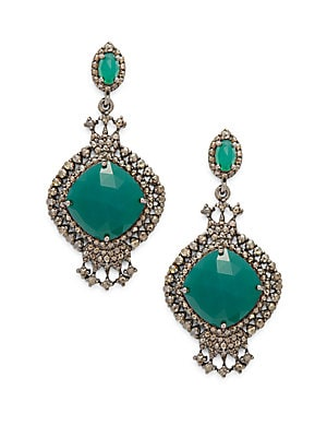 Click here for Green Onyx & Diamond Earrings prices