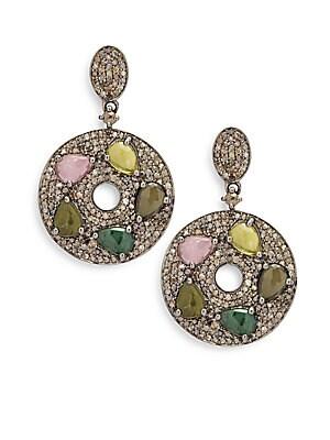 Tourmaline & Sterling Silver Drop Earrings