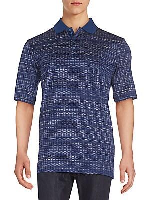 Abstract-Print Polo Shirt