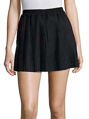 Accordion Pleated Mini Skirt
