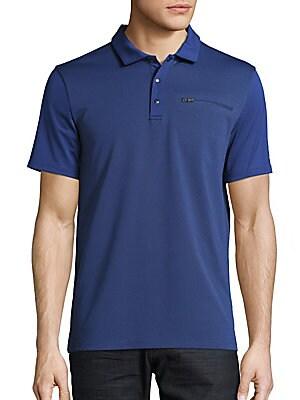 Tonal Colorblock Polo Shirt