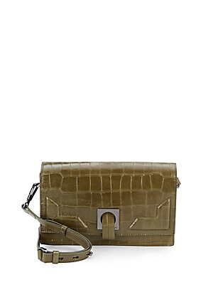 Embossed Leather Convertible Clutch