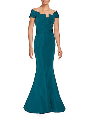 Off-The-Shoulder Silk Faille Mermaid Gown