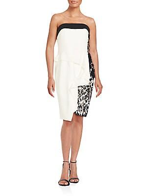 Sequin Embellished Colorblock Sheath Dress