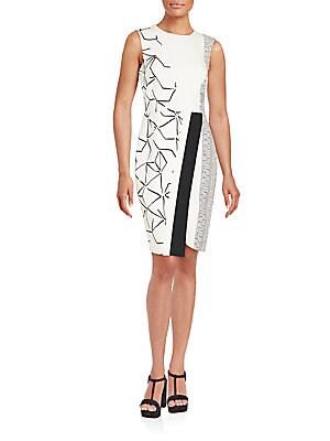 Cowled Silk Wrap Style Dress