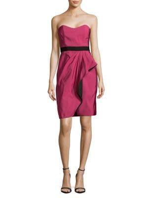 Bustier Silk Sheath Dress