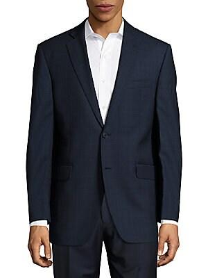 Regular-Fit Tonal Windowpane Check Wool Sportcoat