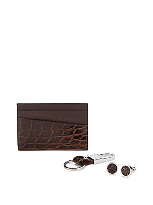 Card Holder, Keychain & Cuff Links in Gift Box