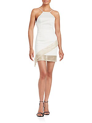 Hot Commodity Lace-Trim Sheath Dress