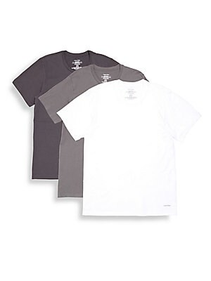 Cotton Crewneck T-Shirt - 3 Pack