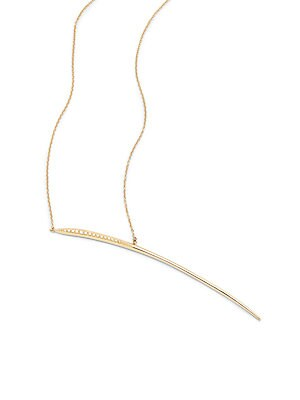 Click here for Icicle Diamond & 14K Yellow Gold Charm Necklace prices