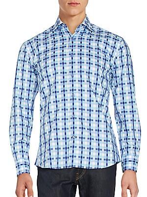 Dotted Plaid Sportshirt