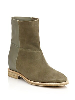 Grayson Suede & Leather Ankle Boots
