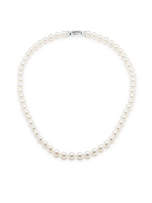 7MM White Round Pearl Necklace