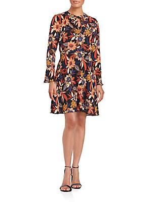 Floral Self-Tie Dress