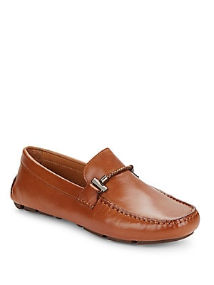 Leather Moc Toe Loafers