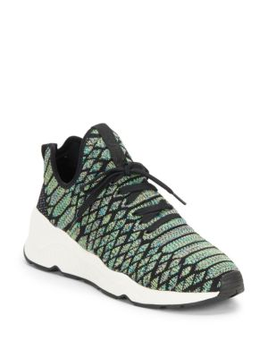 Magma Python-Print Wedge Sneakers