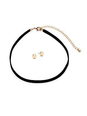 Choker & Stud Earrings Set