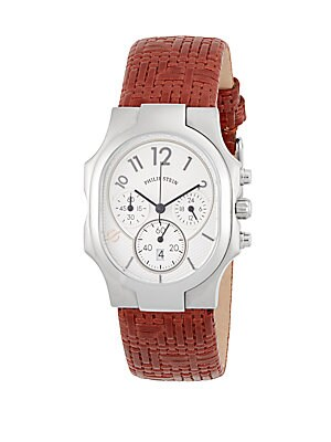 Classic Rectangle Strap Chronograph Watch