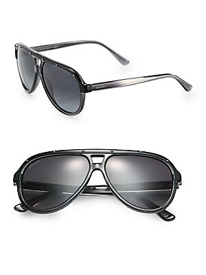 Studded 59MM Aviator Sunglasses