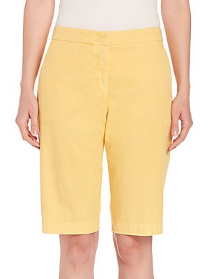 Stretch-Cotton Bermuda Shorts