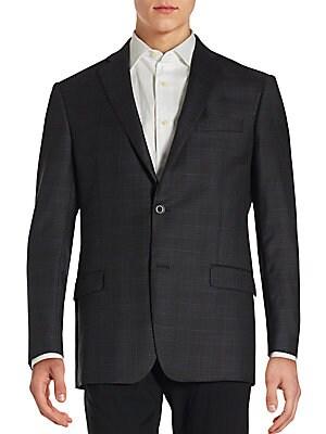 michael kors male 217293 notched lapel long sleeve jacket