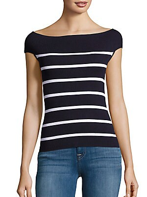 Bateau Neck Stripe Sweater