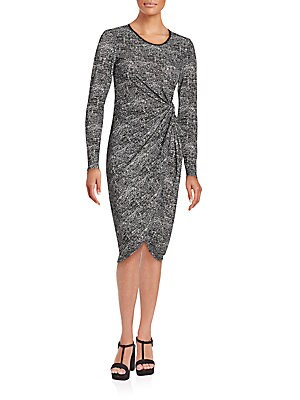 Asymmetrical Patterned Dress