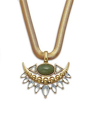 14K Gold-Plated Pendant Necklace