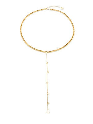 14K Gold Plate Foxtail Necklace