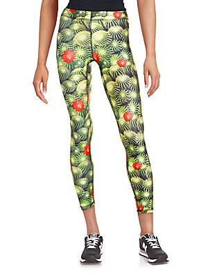 Cactus & Floral Print Leggings