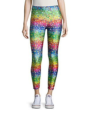 Rainbow Emoji Printed Leggings