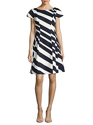 Striped Bow-Back Dress