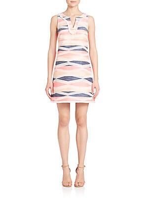 Sleeveless Jacquard Fringe Dress