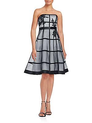 Straight Across Flared Dress