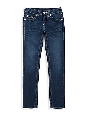 Boy's Embroidered Flap Pocket Jeans