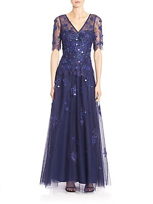 Embellished A-Line Gown