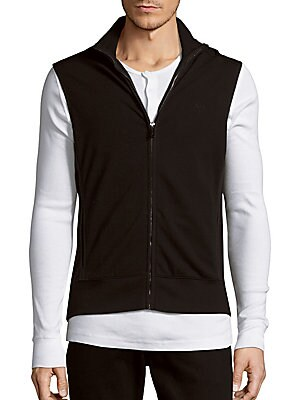 michael kors male sleeveless stretch zipper vest