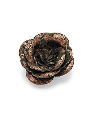 Dark Cork Rose Pin