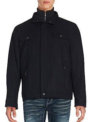 michael kors male highneck jacket