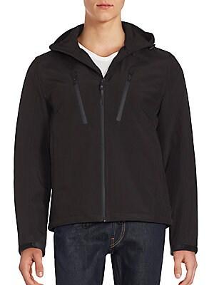 michael kors male long sleeve hooded jacket